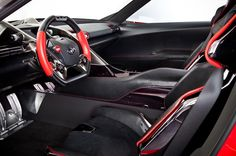 The interior of the new Toyota FT-1 was designed to look like a race car, and we think they definitely succeeded! Find out more and see if we'll ever get this new Toyota in Orlando!   http://blog.orlandoautomotivefamily.com/2014/toyota-introduces-ft-1-sports-car-concept/
