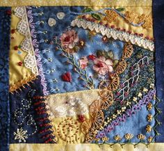 crazy quilt blocks | Crazy Quilt Pillow...