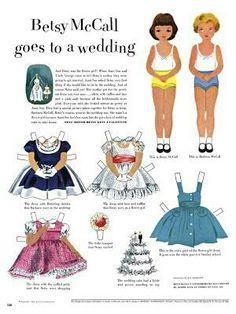 Paper Doll Printable.  I loved my paper dolls, especially Betsy McCall.