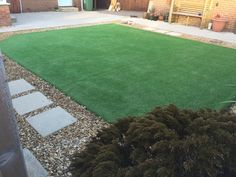 Low maintenance astro turf - no more mowing the lawn.