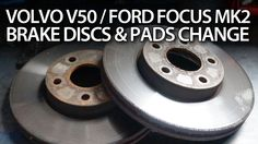 How to replace front brake pads and discs in #Ford #Focus MK2, #Volvo #C30 #S40 #V50 #C70 #cars #maintenance #service