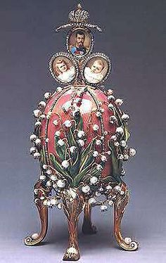 "Oeuf Fabergé ""Lilies of the Valley"" avec Perles Fines"