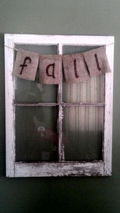 Simple, rustic fall decor