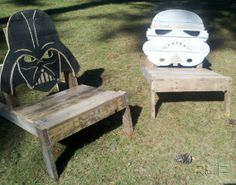 Star Wars Adirondack chairs by RWProjects on Etsy, $175.00