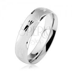 925 ezüst gyűrű, csillag és ív formákkal díszítve, matt és lekerekített felület.