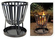 Ambiance Garden Metal Fire Log Basket Bbq Party Decoration Patio Heater Pit Burner