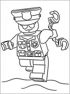 Lego Police Coloring Pages 9