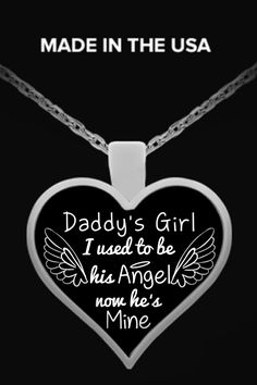 Will you always be Daddy's Girl? Check out this beautiful silver plated necklace you will not find anywhere else. Only 2 days left for free shipping. Grab yours or gift it to a friend, you will both love it.