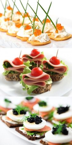 Party Finger Foods Hors D Oeuvre Russian Recipes Appetizers For Party Party Snacks Appetizer Recipes Canapes Cocktail Toast Finger Food Appetizers, Appetizers For Party, Appetizer Recipes, Cold Appetizers, Finger Food Catering, Dinner Recipes Easy Quick, Easy Meals, Snacks Für Party, Food Decoration