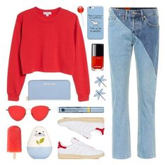 """""""Happy Weekend!"""" by lgb321 ❤ liked on Polyvore featuring Vetements, Sub_Urban Riot, Tory Burch, adidas, Estée Lauder, Michael Kors, Été Swim, weekend, polyvoreeditorial and weekendstyle"""