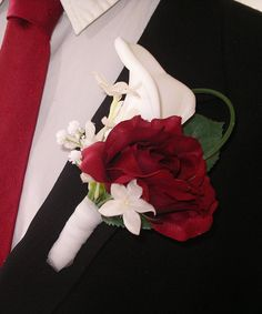15pc Red Rose & White Calla Lily  Fairytale by BloomedToLast, $685.00