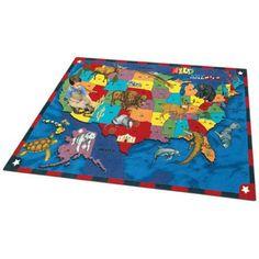 Joy Carpets Wild America Kids Area Rug - 1499-