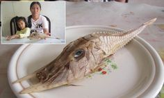 Mystery fish with tusk-like spikes and spines is found off Borneo. (I love how they put it on a plate!)