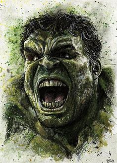 #Hulk #Fan #Art. (Hulk Painted) By: Nate Michaels. (THE * 3 * STÅR * ÅWARD OF: AW YEAH, IT'S MAJOR ÅWESOMENESS!!!™)[THANK Ü 4 PINNING!!!<·><]<©>ÅÅÅ+(OB4E)