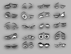 """I love these.   """"Tips: 1.) The left eye doesn't have to do what the right eye is doing. Variation can add life to your expressions. 2.) Don't think of eyelids as """"windshield wipers"""" or """"venetian blinds"""" mechanically moving over the eye. They are soft fleshy parts that wrap around the eye and can change shape when pushed and pulled by facial muscles."""" - Toby Shelton"""