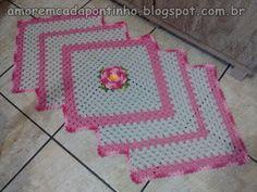 Tapete Diagonal Flor Encomenda | :::Amor em cada Pontinho:::