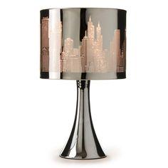 Buy Stainless Steel City Scene Touch Lamp | Lighting | The Range