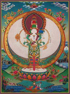 Tibetan thangka painting.