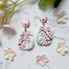 Barettes Colorful Floral Polymer Clay Jewelry Ring Bracelet Embroidery Blossom Necklace Earrings Floral Boho Gift For Her