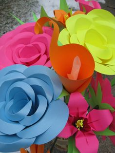 HUGE Paper Flower Display Wedding Decoration You by TreeTownPaper, $140.00