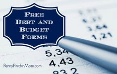 Free Debt and Budget Forms