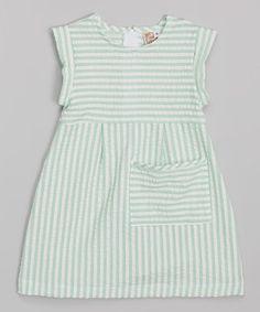 Another great find on #zulily! Anna Bouché Green Seersucker Pocket Dress - Toddler & Girls by Anna Bouché #zulilyfinds