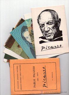 PICASSO, RARA EDICION COMPLETA DE 10 POSTALES AÑOS 70.