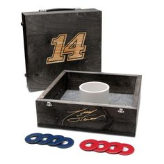 Victory Tailgate - #14 Tony Stewart Washer Game Set Onyx Stained