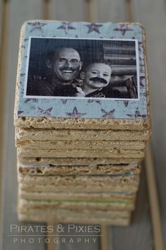 Father's Day gift, Father's Day craft idea, how to make photo coasters
