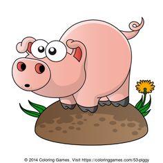 Pig coloring