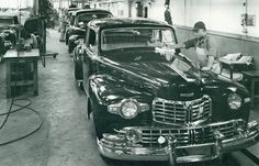 ...1946 Lincoln/Lincoln Continental assembly...sure wish I had one fresh off the line...