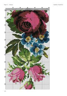 Cross Stitch Rose, Cross Stitch Flowers, Cross Stitch Embroidery, Hand Embroidery, Cross Stitch Patterns, Embroidery Designs, Beading Tutorials, Blackwork, Needlepoint