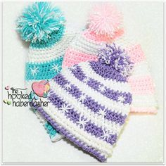 Free Crochet Pattern ~ Snowlicious Slouchy Hat - The Hooked Haberdasher