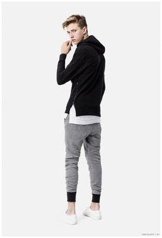 Justin Bieber Spotted in John Elliott + Co Black Hooded Sweatshirt