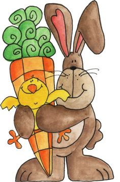 Easter - bunny and chick Happy Easter, Easter Bunny, Easter Eggs, Spring Crafts, Holiday Crafts, Easter Paintings, Decoupage Paper, Watercolor Cards, Easter Crafts