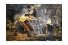 size: Giclee Print: Blacksmiths, Painting by Juan Luna Ynovicio Spain : Gradient Color, Blacksmithing, Printing Process, Framed Artwork, Find Art, Giclee Print, Spain, Painting, Ink