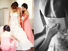 Gorgeous satin dress with jewel details