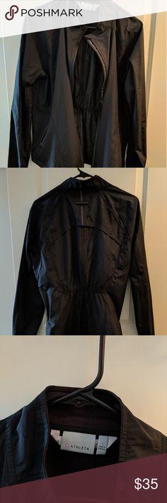 Athleta rain jacket. Black Athleta rain running jacket with ventilation. Athleta Jackets & Coats