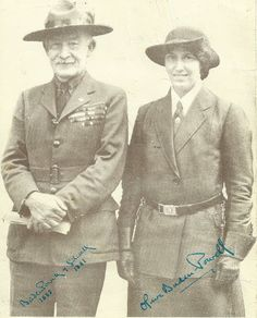 Lord Baden-Powell and his wife Olave ----- The Scout Movement was started in 1907 by Baron Robert Stephenson Smyth Baden-Powell, better known as Robert Baden-Powell who was born on 22nd February 1857 in #London, UK. Later on Baden-Powell met Olave St Clair Soames who was born on 22nd February in 1889. Olave became involved with the #GirlGuide Movement and also married #BadenPowell on 30th October 1912. Boy Scouts, Robert Baden Powell, Scout Activities, Thinking Day, Girl Guides, Cubs, Famous People, Eagle, Robert Smith