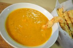 Sweet Potato Bisque.  This is similar to the recipe I used.