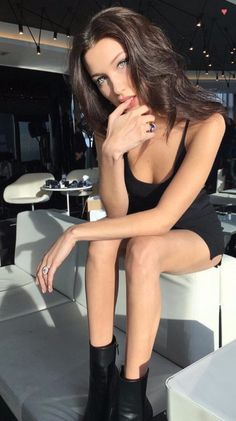 ((Bella Hadid))  This is Bella she a 19 year old model from Los Angeles, California. (Idk really stubborn, partier, damaged as fuck just like all my characters n)