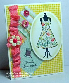 Card created by Cheri Weston. Rubber stamps by Repeat Impressions. - http://www.repeatimpressions.com/pairings.html - #repeatimpressions #rubberstamps #cardmaking #pairings #bloghop
