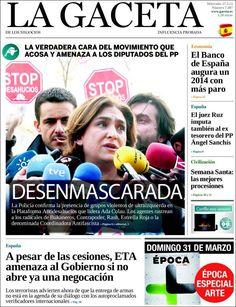 Los Titulares y Portadas de Noticias Destacadas Españolas del 27 de Marzo de 2013 del Diario La Gaceta ¿Que le parecio esta Portada de este Diario Español?
