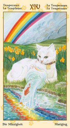 XIV - Tempérance - Tarot de chats païens