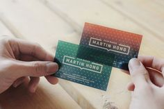 It's been a while since we last got some inspiration from well-designed business cards. Let's check out a few. Martin Hong A beautiful card that makes a clever use of transparency for M…