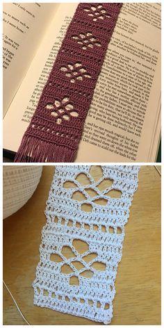 Deta's Bookmark Crochet – Free Crochet Patterns - Crochet Crochet Bookmark Pattern, Crochet Bookmarks, Crochet Patterns, Thread Crochet, Crochet Crafts, Free Crochet, Crochet Books, Minecraft Crochet, Tatting Tutorial