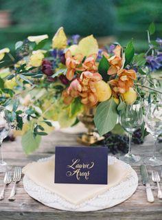 Orange and purple table: http://www.stylemepretty.com/2014/03/26/an-italy-workshop-the-wedding-inspiration/   Photography: Jose Villa - http://josevilla.com/