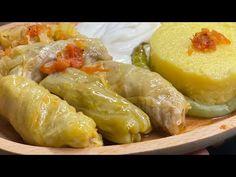 Reteta de SARMALE in foi de VARZA (cu varza murata) - YouTube Romanian Food, Romanian Recipes, Fresh Rolls, Baked Potato, Food And Drink, Gluten, Potatoes, Chicken, Baking