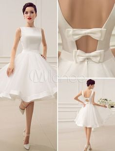Backless A-line Wedding Dress