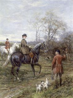 Terriers Wanted by Heywood Hardy Great Paintings, Old Paintings, Hunting Art, Fox Hunting, Smooth Fox Terriers, Parson Russell Terrier, Horse Silhouette, Vintage Horse, Equine Art